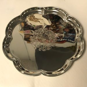 SILVER Plated Scallops Tray NWOT